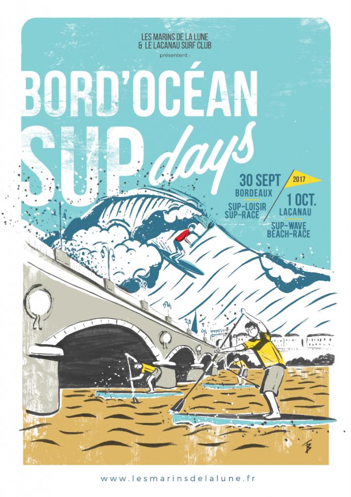 Affiche des Bord'Ocean SUPdays 2017