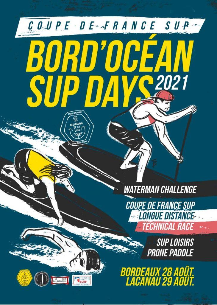 Affiche BORD'OCEAN SUPdays 2021